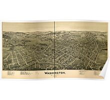 Panoramic Maps Washington Pennsylvania 1897 Poster
