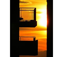 Balcony sunset, New York City Photographic Print