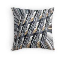 Metallic Fusion Throw Pillow