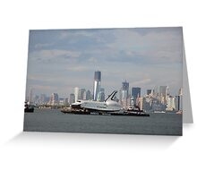 space shuttle enterprise/manhattan; 6/3/2012 Greeting Card