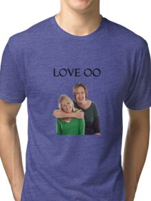 Miranda and Stevie - Love OO Tri-blend T-Shirt
