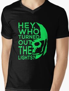 Doctor Who - Who turned out the lights Mens V-Neck T-Shirt