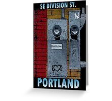 SE Division ST. Portland, Or. Greeting Card
