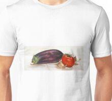 aubergine-tomatoe-garlic Unisex T-Shirt