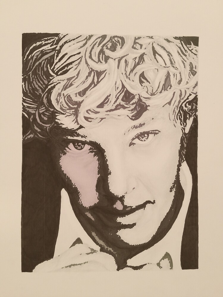 Benedict Cumberbatch sketch (two-tone) by cumberlover