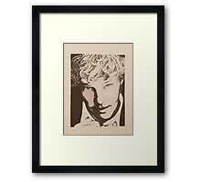 Benedict Cumberbatch sketch (two-tone) Framed Print
