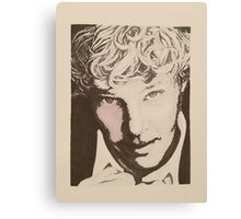 Benedict Cumberbatch sketch (two-tone) Canvas Print