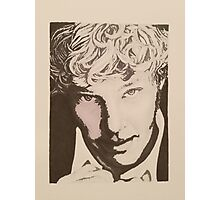 Benedict Cumberbatch sketch (two-tone) Photographic Print