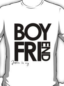 Justin Is My Boyfriend (Black) T-Shirt