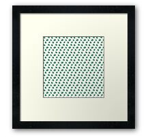 Really Really Small Weed Leafs Framed Print