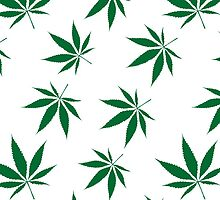 weed pattern large leaf by DorianDesigns