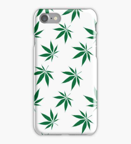 weed pattern large leaf iPhone Case/Skin