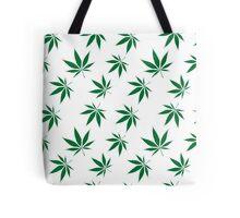 weed pattern large leaf Tote Bag