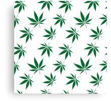 weed pattern large leaf Canvas Print