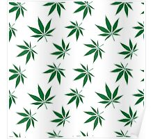 weed pattern large leaf Poster