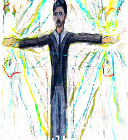 Nikola Tesla does not  change lightbulbs Sticker