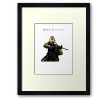 Halo Strike Framed Print