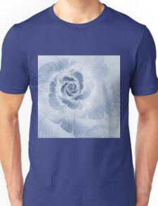 Floral Impression Cyanotype Unisex T-Shirt