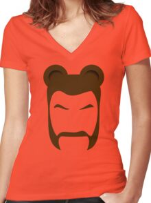 BEARMAN 2 Women's Fitted V-Neck T-Shirt