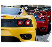 Ferrari Pair Poster
