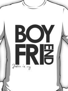 Justin Is My Boyfriend (Dark Grey) T-Shirt