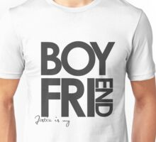 Justin Is My Boyfriend (Dark Grey) Unisex T-Shirt