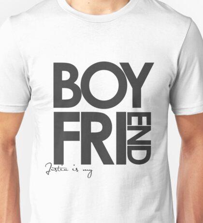Justin Is My Boyfriend (Dark Grey) Unisex T-Shirt