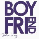 Justin Is My Boyfriend (Purple) by ElleeDesigns