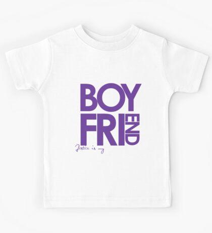 Justin Is My Boyfriend (Purple) Kids Tee
