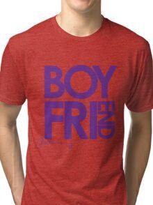 Justin Is My Boyfriend (Purple) Tri-blend T-Shirt
