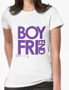 Justin Is My Boyfriend (Purple) Womens Fitted T-Shirt