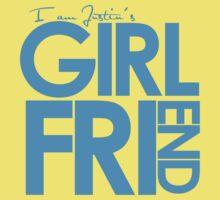 I Am Justin's Girlfriend (Blue) Kids Tee