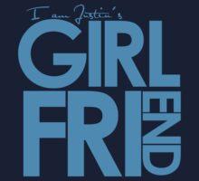 I Am Justin's Girlfriend (Blue) Kids Clothes