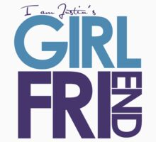 I Am Justin's Girlfriend (Blue & Purple) Kids Tee