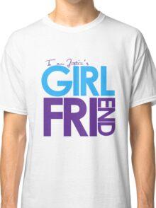 I Am Justin's Girlfriend (Blue & Purple) Classic T-Shirt