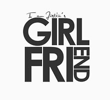 I Am Justin's Girlfriend (Dark Grey) Unisex T-Shirt
