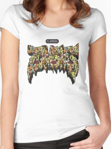 FBZ Shroom title  Women's Fitted Scoop T-Shirt