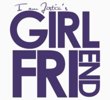 I Am Justin's Girlfriend (Purple) One Piece - Short Sleeve