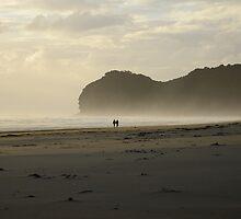 Sunset at New Zealand beach by Alessandro Fraracci
