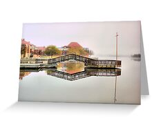 Lake Tuggeranong , Tuggeranong College in background Greeting Card
