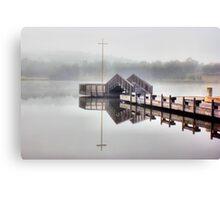 Foggy Morning Lake Tuggeranong Canvas Print