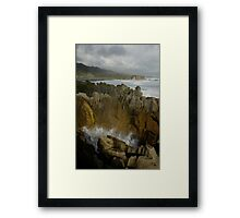 The Pancake Rocks Framed Print
