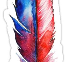 Red Spirit Feather Watercolor Sticker