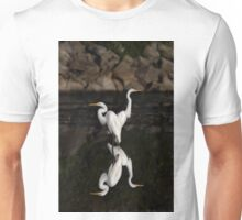 Reflective Moment - Great Egrets Unisex T-Shirt