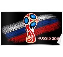 Russia 2018, Fifa World Cup soccer competition Poster