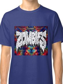 FBZ Red & Blue Tie dye background Classic T-Shirt