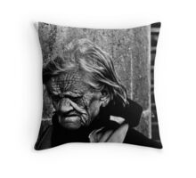 old lady Throw Pillow