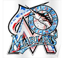 MARLINS WHITE Poster