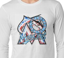 MARLINS WHITE Long Sleeve T-Shirt