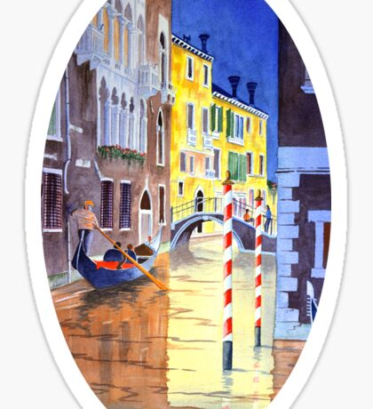Reflections Of Venice Italy Sticker